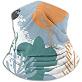 Fleece Neck Mask,Abstract Natural Seamless Pattern Outdoor Knit Headwear Wool Snow Ski Caps Face Mask,for Unisex
