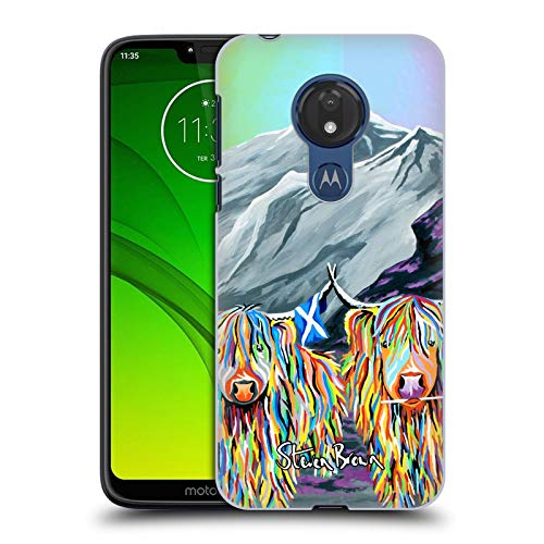 Price comparison product image Official Steven Brown William Rabbie Wallace Mccoo Highland Cow Collection 2 Hard Back Case for Motorola Moto G7 Power