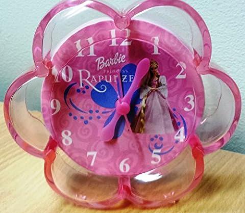 "Barbie Dome Small Pink Rapunzel Girls Princess Bedroom Alarm Clock 9"" High Disney"