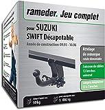 Rameder Attelage rotule démontable pour Suzuki Swift Décapotable + Faisceau 13...