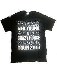 Official Neil Young - Foto Rayas Tour 2013 - Camiseta Oficial Hombre