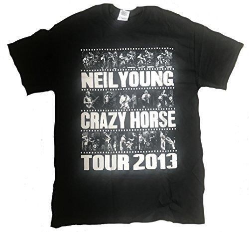 NEIL YOUNG - Photo BANDE Tour 2013 - T-Shirt Officiel Homme - Noir, X-Large