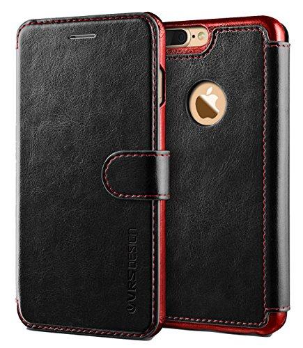 Cover iPhone 7 Plus, VRS Design [Layered Dandy][Nero] - [Portafoglio