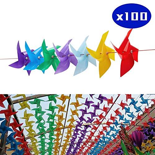 Movein Windrad Blumen, Dekorative Blumen im Freien, Kindergarten, Hausgartengarten, Schule, ideale Dekorative Windrad der Partei-Vogelverteidigung in den Häusern und in den Gärten.