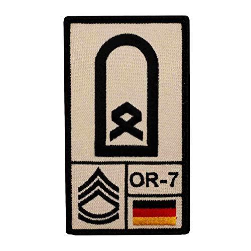 Café Viereck ® Hauptfeldwebel Bundeswehr Rank Patch mit Dienstgrad - Gestickt mit Klett - 9,8 cm x 5,6 cm