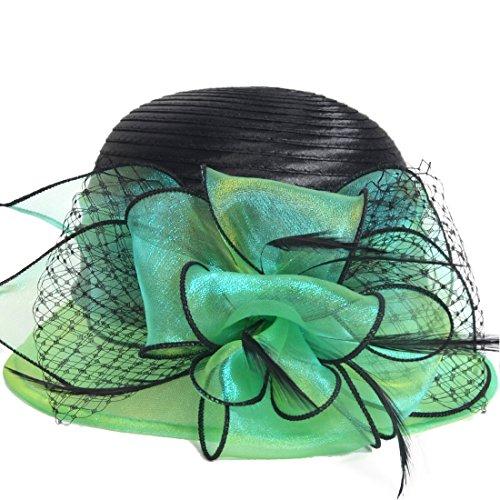 Süße süße Cloche Oaks Kirche Kleid Bowler Derby Hochzeit Hüte S606 (Grün) -