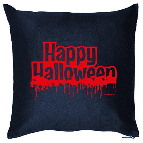 Deko/Fun-Kissen mit Füllung u. Aufdruck lustige Halloween Sprüche: Happy Halloween