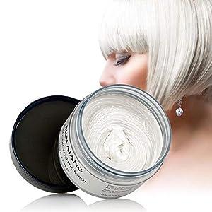 Hamkaw Mofajang Hair Color Wax, Cera De Color Temporal para Pelo De 4,23 Oz, Estilo Instantáneo, Crema, para Fiestas, Cosplay, Fácil Limpieza, Verde