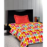 Bombay Dyeing Autumn Winter 17' Caelina Polycotton Single Bedsheet- D01- Rio Red - 124TC