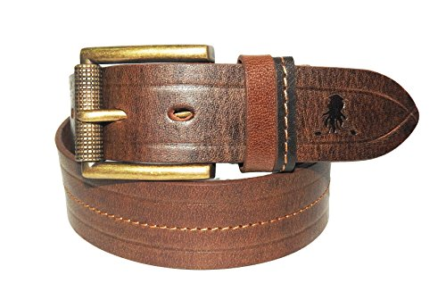 Squide Blue Copper Broad Pin Leather Belt