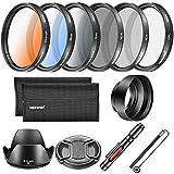 Neewer Kit Filtro de lente de 52MM y accesorio, incluye: Filtro CPL ND4 ND8, filtro graduado de...