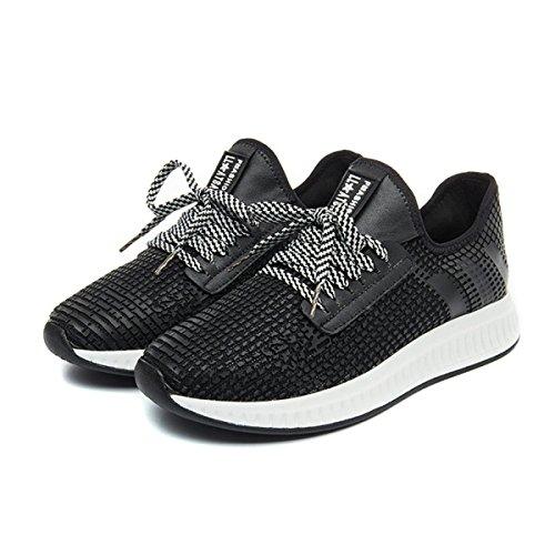 Frau CHT Frühling Und Herbst Wilden Schuhe Beiläufige Laufende Black