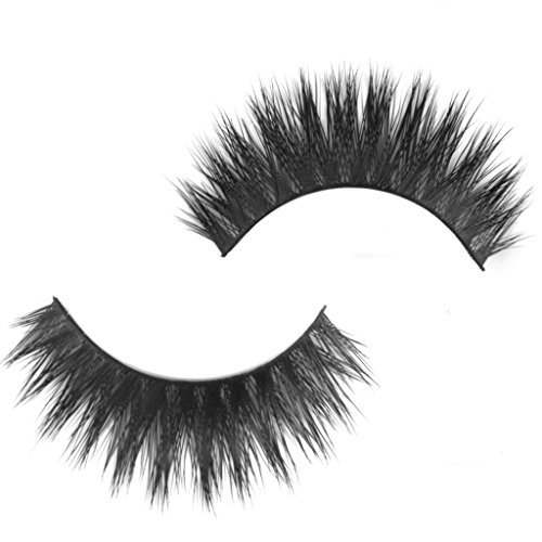 zcsmg 1Paar lebensecht handgefertigt Wimpern dicker Wimpern für Eye Decor (schwarz) - Dicker Wimpern
