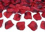 jakopabra Deko - Rosenblätter zum streuen 100 Stück Hochzeit Tischdeko (rot Farbverlauf)