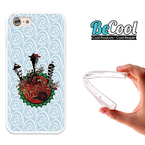 BeCool®- Coque Etui Housse en GEL Flex Silicone TPU Iphone 8, Carcasse TPU fabriquée avec la meilleure Silicone, protège et s'adapte a la perfection a ton Smartphone et avec notre design exclusif. Art L1666