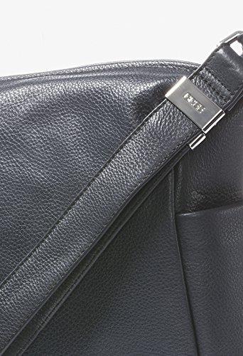 BREE Nola 3 | Damenhandtasche Echtleder | großes Volumen | smoke blau