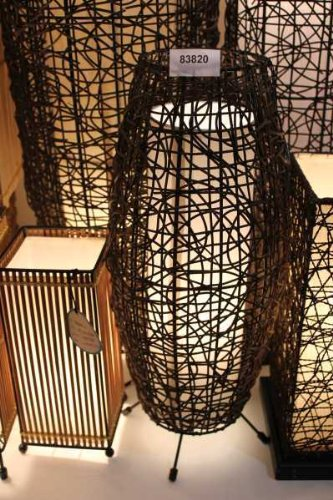 Rattanlampe, Leuchte, Lampe, Afrika