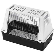 Ferplast Car carrier for dogs ATLAR CAR MINI, Pet carrier, Ventilation grids, Draining pad included, 72 x 41 x h 51 cm Grey