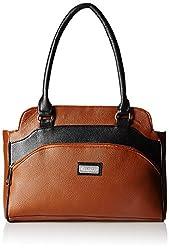 Fantosy Women's Handbag ( Tan And Black,FNB-324)