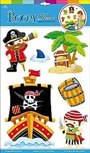 Stickers Autocollants 3D «Pirates» chambre/enfant/deco