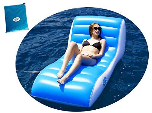 BEACHART - Sillón colchón Hinchable Relax con Bolsa 196 x 100 cm...