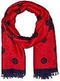 Armani Exchange Damen Schal Fashion Scarf, Rot (Bloody Mary/Blue Angel 0415), One Size (Herstellergröße: TU)