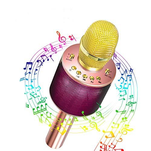 Bluetooth Karaoke Mikrofon,Yaasier Mikrofon Stereo Player Bluetooth Lautsprecher für Musik spielen KTV,Party, Lautsprecher für PC, Laptop, iPad, und Android/IOS oder Alle Smartphone Stereo-bluetooth-mikrofon