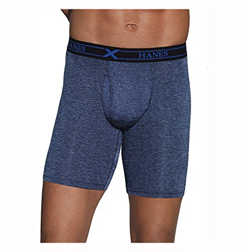 Hanes Men's Ultimate X-Temp™ Longer Leg Performance Boxer Brief Comfort Flex™ Waistband Assorted 3-Pack
