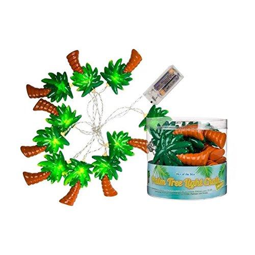 Out of the blue Lichterkette Palme, Plastik, bunt, 13 x 12.5 x 13 cm - Dschungel-palme