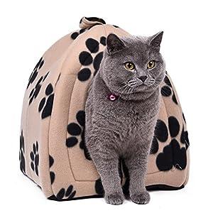 Speedy Pet Chatière pour chat et chaton Igloo Niche pour petits chiens Caverne chambre pour chat Panier pour les petits animal de compagnie domestique maison mignon pour hamster 5 couleurs Taille Hauteur 40 * 32 * 32cm