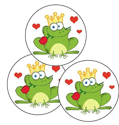 Cake Company Esspapier-Aufleger Frosch-König | 25 Stück, 4cm | Torten-Aufleger für Muffin-Aufleger & Cupcakes-Aufleger | Torten-Deko für den Valentinstag | ideal für Motiv-Torten für Kinder-Geburtstag