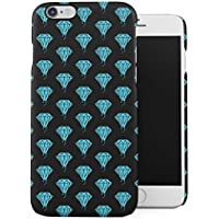 Turquoise Leaking Diamond Pattern Apple iPhone 6 / iPhone 6S Snap-On Hard Plastic Protective Shell Case Cover Carcasa