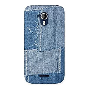 Enticing Vintage Denim Print Back Case Cover for Micromax Canvas Magnus A117