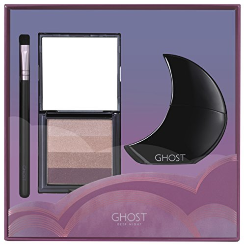 Ghost Deep Night Eau de Toilette Spray, Eye Shadow Pallet and Makeup Brush Gift Set
