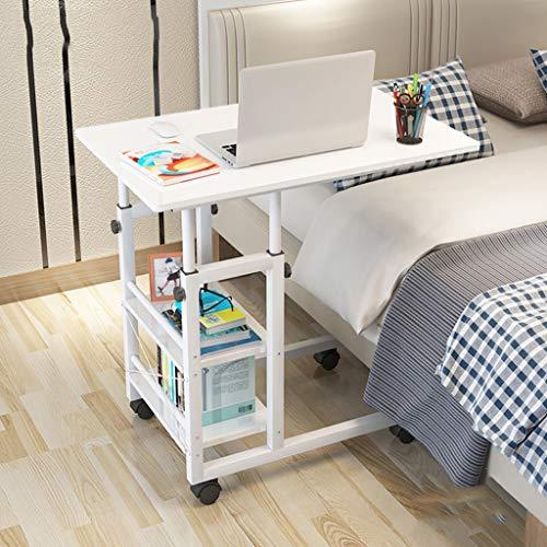 HJBH Fiberboard / Stahl Struktur Tisch Home Computer Schlafsaal Einfache Tabelle Wirtschaftlich Praktisch Höhenverstellbar Mobile Bequeme Größe: Länge 80cm / Breite 40cm / Höhe (83--93cm) Farbe: (Elfe -