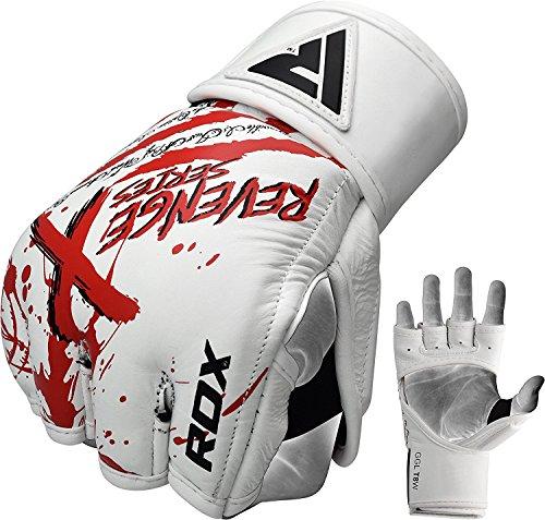 RDX Rindsleder MMA Handschuhe UFC Kampfsport Sparring Freefight Sandsack Trainingshandschuhe Grappling Gloves