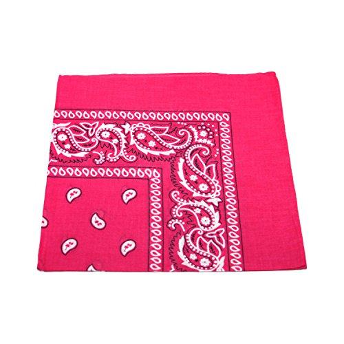 Bandana Kopftuch Halstuch Nickituch Biker Tuch Motorad Tuch verschied. Farben (Pink)