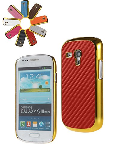 Bralexx Case für Samsung Galaxy S3 mini i8200 gold/rot/carbon