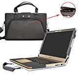 Acer Swift 3 Housse,(2 en 1) spécialement conçu Etui de protection en cuir PU + sac portable Sacoche pour 14' Acer Swift 3 SF314-51 Series ordinateur portable(NON compatible avec Acer Swift 3 SF314-52 Serie),Noir