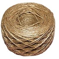 Xiton 100 metros – cuerda de yute natural texturizada 1 mm, embalaje, regalo, manualidades