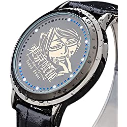 Sunkee New Tokyo Ghoul Shuu Tsukiyama LED Touchscreen Electronic clock Waterproof cosplay watch
