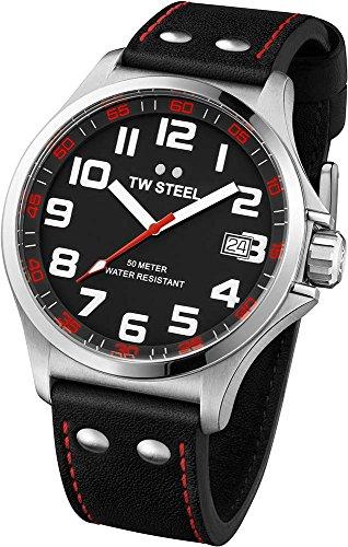 TW Steel - TW-410 - Montre Femme - Quartz Analogique - Bracelet Cuir Multicolore