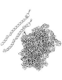 20pcs Extensores De Collar Cadena Tono De Plata 3mm Chain Necklace Extenders