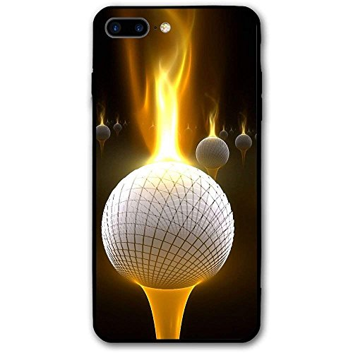 5.5 Inch Cell Phone Case for iPhone 8 Plus Fire Golf Balls Anti-Scratch Shock Proof Hard PC Protective Case Cover (Scratch Golf Bälle)