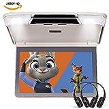ddauto dd1166m Ultra Dünn Overhead MP5Player 1080p HD IPS-Display Flip Down Monitor Auto Player mit Fernbedienung für Double Dome LED-Lichter Unterstützt USB SD HDMI 29,5cm