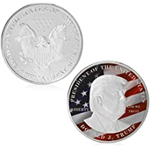 ARUNDEL SERVICES EU Donald Trump Moneda plateada plata 45. ° presidente estadounidense Acuñar Moneda conmemorativa