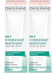 Diadermine - PH7 Soin de Jour Hydratant Matifiant - 50 ml lot de 2