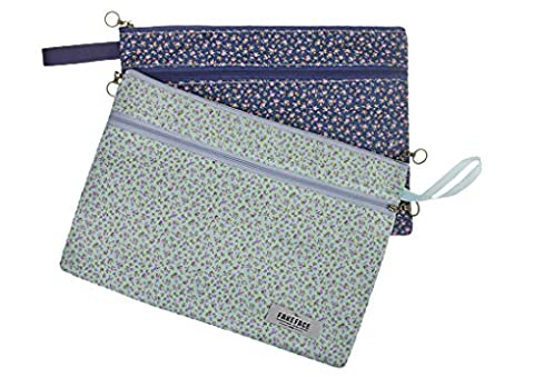 2 Pack A4 Zipped File Pocket - Paper Document Storage