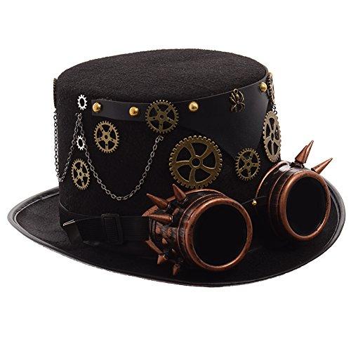 GRACEART Steampunk Hut Zylinder mit Brille (Verschiedene Stile)