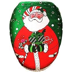 Newin Star Weihnachten Badezimmer Deko WC-Sitz Deckelbezug Weihnachtsmann Weihnachtsfest-Dekoration, Stil 2